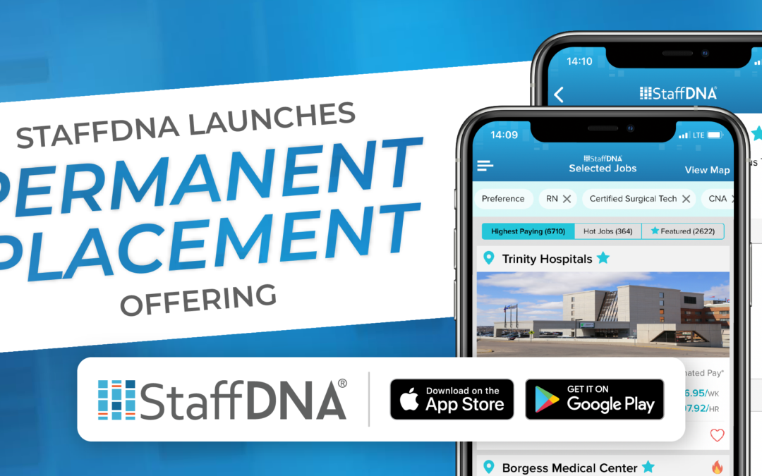 StaffDNA Launches Permanent Placement Offering for Healthcare Professionals