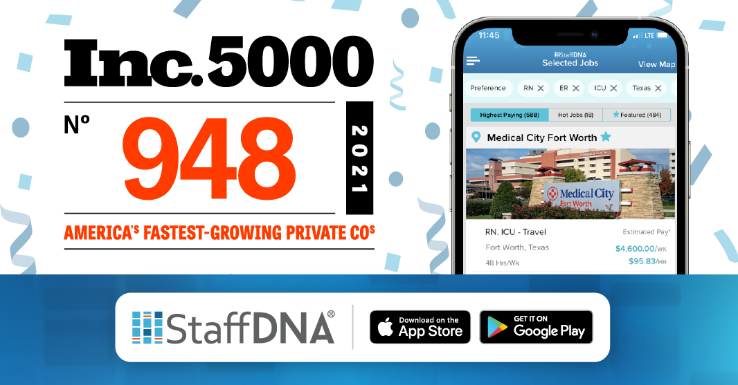 StaffDNA Ranks No. 948 on the 2021 Inc. 5000